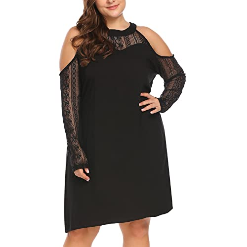Cold Shoulder Plus Size Dress: Amazon.com