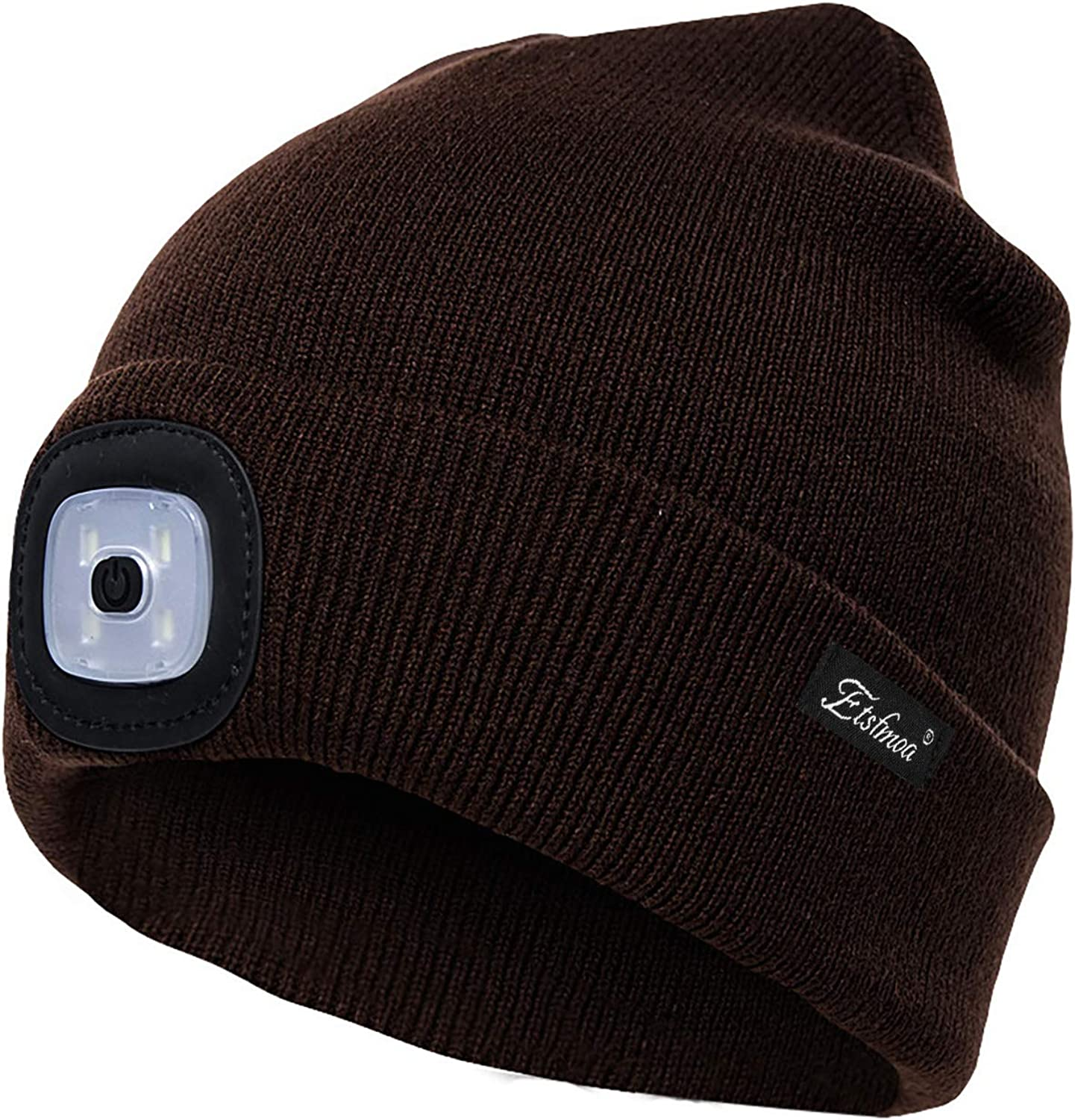 Unisex LED Beanie Hat with Light Gifts for Men Dad Father USB Rechargeable Caps