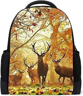 Malplena mochila senderismo caza ciervos otoño bosque patrón bolsa de viaje escuela