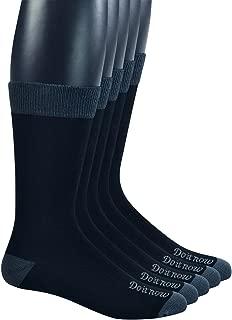 Yomandamor Men's Bamboo Breathable Dress Crew Socks with Seamless Toe,5 Pairs L Size(Sock Size:10-13)