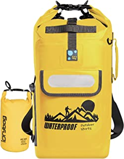 IDRYBAG Waterproof Backpack Floating Dry Bag, Dry Bag Backpack Waterproof 20L, Roll Top Keeps Gear Dry for Kayaking, Boating, Rafting, Fishing, Swimming, Hiking, Camping, Travel, Beach