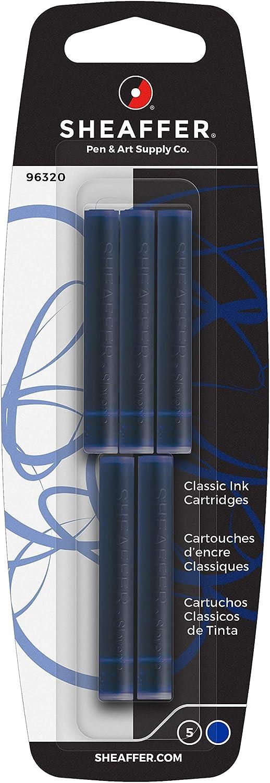 Sheaffer Tintenpatronen Skrip Classic Für Sheaffer Füller Nicht Löschbar 5 Stück Blau Schwarz Bürobedarf Schreibwaren