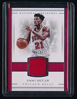 JIMMY BUTLER 2016-17 NATIONAL TREASURES MATERIAL JERSEY 86/99 *CHICAGO BULLS*