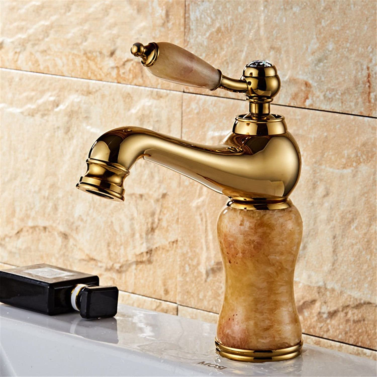 Good quality Antique Basin Sink Mixer Tap Bathroom basin faucet copper bathroom single-connected quick-open faucet household above counter basin hot and cold water mixer