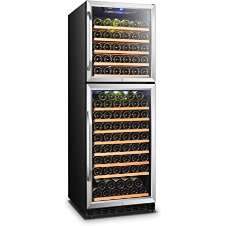 FORNO Capraia Premium Triple Zone 144-Bottle Freestanding Wine Cooler Fridge
