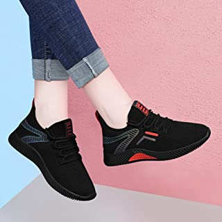 ASxinZ Black Sneakers Breathable Autumn Light Soft Bottom Running Shoes Autumn Shoes Summer New Women'S Shoes Casual Shoes