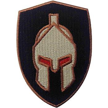 Parche termoadhesivo para la ropa, diseño de Casco de batalla espartano: Amazon.es: Hogar
