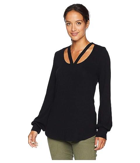 Karen Kane Sweaters Cut Out Sweater, BLACK