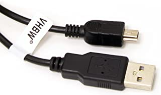 vhbw Cable Transferencia USB 1m A-Mini-B 5 Pines, Negro, Compatible con JVC GC-WP10, Picsio GC-FM1, GR-D70 etc.