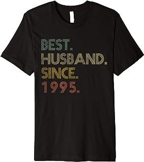 Mens Best Husband Since 1995 Epic Couple 25th Wedding Anniversary Premium T-Shirt