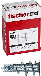 Fisher 24556 * 100 Gipsplaat Rawl-pluggen Verpakking van 100 zonder schroeven Metaal