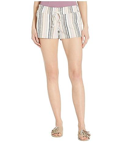 Roxy Oceanside Yarn-Dyed Shorts (Snow White Beachside Stripe) Women
