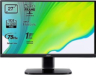 """Acer KA272A - Monitor de 27"""" Full HD, con ZeroFrame y FreeSync, 250 nits, Tiempo de Respuesta de 1ms, VGA, 2xHDMI - Color ..."""