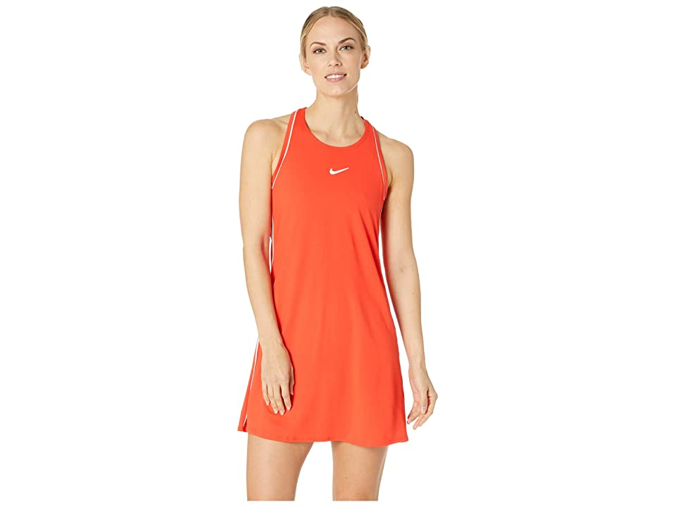 Nike Court Dry Dress (Habanero Red/White/White/Bordeaux) Women