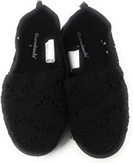 Girls Casual Crochet Shoes Black