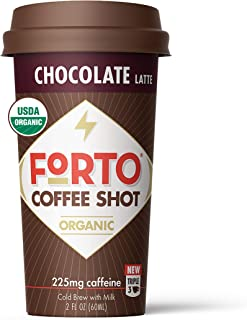 FORTO Coffee Shots – Chocolate Latte, Ready-to-Drink on the go, High Energy Cold..