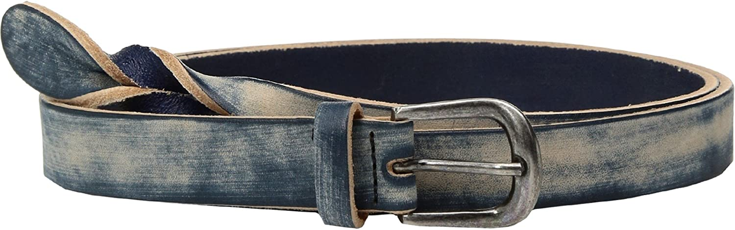 Amsterdam Heritage Leather Belt 20003 Braided bluee Denim belt