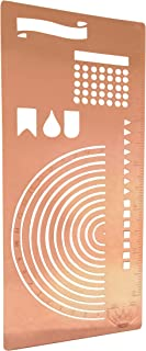 Stainless Steel Stencil I Ruler Semi Circle Habit Tracker Template I Great for Bullet Journal Calendar Notebook Agenda I Scrapbook Album Craft Supplies for Adults KidsGOLD Stencil (Rose Gold)