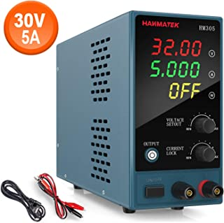 Adjustable DC Power Supply (0-30 V 0-5 A) with Output Enable/Disable Button HANMATEK HM305 Mini Variable Switching Digital Bench Power Supply