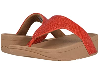 FitFlop Lottie Shimmer Crystal (Passion Red/Chipmunk) Women