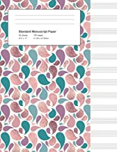 Standard Manuscript Paper: Rose and Teal Foil Teardrops Blank Sheet Music (Notebook for Musicians)