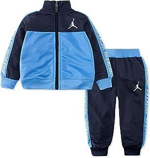 Jordan Boy`s Colorblocked Stamp Tricot Jacket & Jogger Pants Track 2 Piece Set