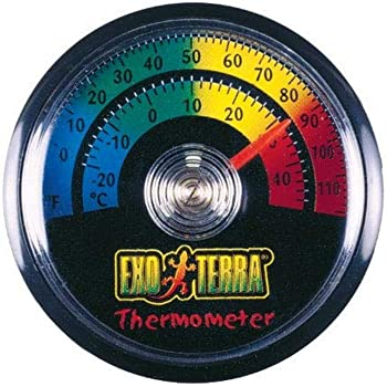 Exo Terra Thermometer for Reptile Terrarium, Celsius and Fahrenheit Thermometer, PT2465