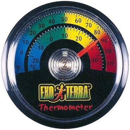 Exo Terra Thermometer for Reptile Terrarium, Celsius and Fahrenheit Thermometer, PT2465