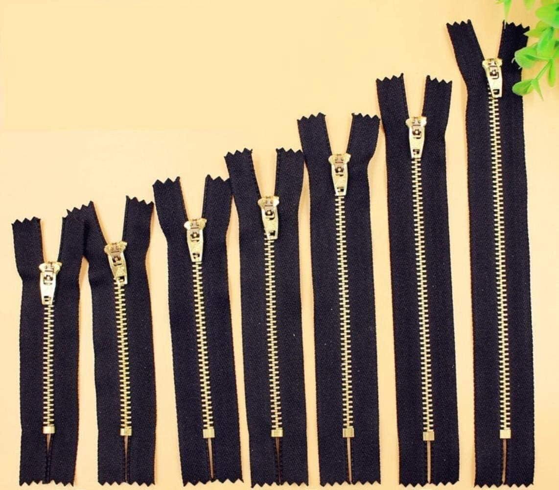 UIZSDIUZ Zipper 1 pcs 4# Brass Teeth Black Zipper for Jeans Sewi