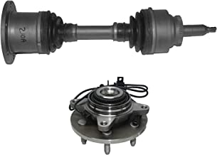 Detroit Axle - 2PC Front Driver or Passenger CV Axle Drive Shaft and Wheel Hub & Bearing w/ABS for 2006 2007 2008 Ford F-150/ Lincoln Mark LT - 4WD