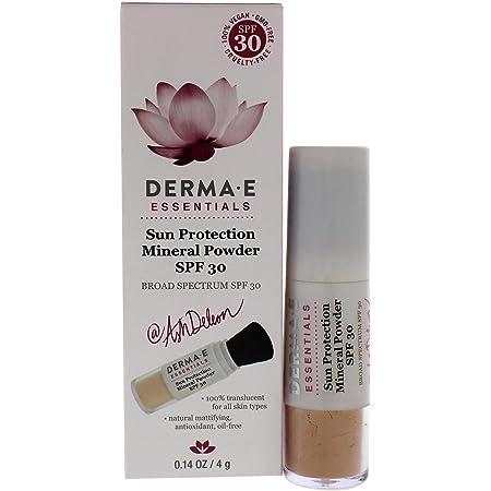 DERMA E Sun Protection Mineral Powder SPF 30 – All Natural Matte Face Powder Sunscreen – Non-Nano Zinc Oxide Powder Mineral Makeup with UVA/UVB Sun Protection, 0.14oz