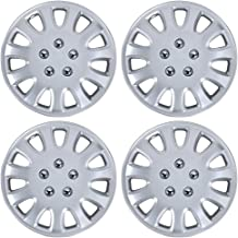 BDK Hubcaps 14 Inch Wheel Protection - OEM Replacement, Easy Installation, Total 4 Pieces (2 front 2 rear) (KT-842-14_AMwng1)