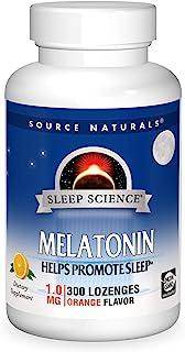 Source Naturals Sleep Science Melatonin 1 mg Orange Flavor - Helps Promote Sleep - 300 Lozenge Tablets