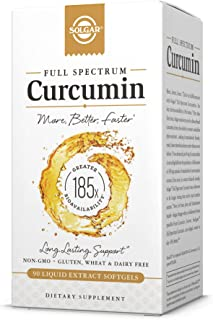 Solgar Full Spectrum Curcumin Liquid Extract, 90 Softgels - Faster Absorption - Brain, Joint & Immune Health - Long Lastin...