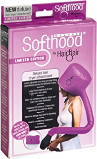 Bonnet Hood Hair Dryer Attachment Hair Flair Deluxe Softhood (Pink)