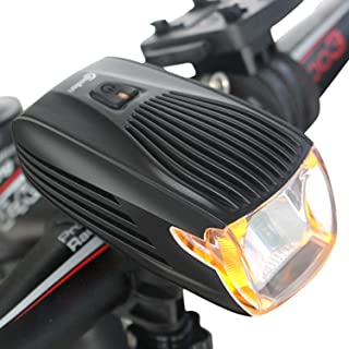 Meilan Cree LED Bike Light, USB Rechargeable Bicycle Headlight,Automatic Light System,Yellow Daytime Light, Flashlight, Waterproof and Easy To Instal