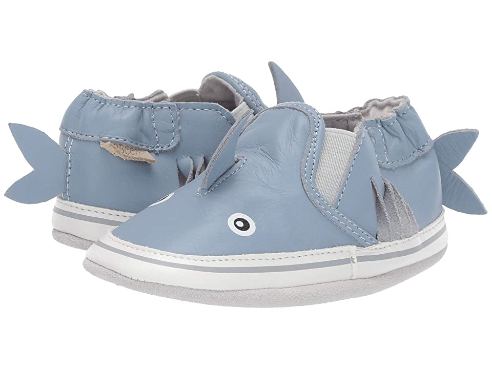 Robeez Sebastian Shark Soft Sole (Infant/Toddler) (Blue) Boy