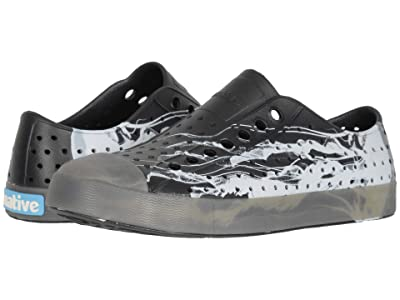 Native Shoes Jefferson Print (Jiffy Black/Translusent/Jellyfish) Athletic Shoes