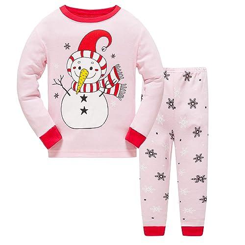 9572c2e732 Kids Baby Girls Pyjamas Set Horse Giraffe Nightwear Sleepwear Christmas  Long Sleeve PJS 2 Piece Outfit
