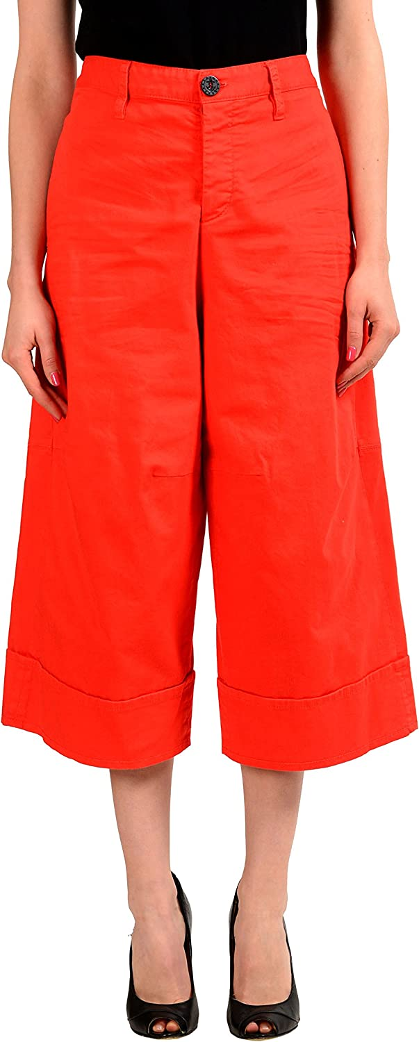 DSQUARED2 Red Cropped Wide Leg Women's Casual Pants US XS IT 38