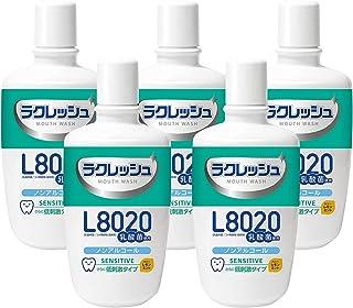 ジェクス(JEX) ラクレッシュ L8020 乳酸菌 マウスウォッシュ (300ml) 5本セット センシティブタイプ (ノンアルコール/さらに低刺激)