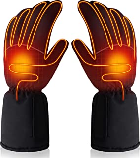 SVPRO Electric Rechargeable Battery Powered Heated Gloves Warm Winter Thermo-Gloves for Men Women,Sports&Outdoor Cycling Riding Skiing Hiking Hunting Thermal Gloves Hand Warmer