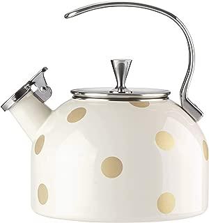 Kate Spade New York 875284 Deco Tea Kettle, Gold Dot