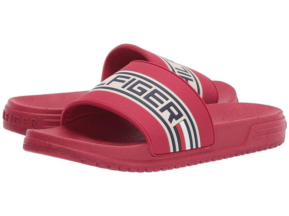 Tommy Hilfiger Kids Geo Logo Slide (Little Kid/Big Kid) (Tommy Red) Kids Shoes