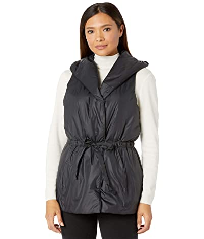 Eileen Fisher Hooded Vest (Black) Women
