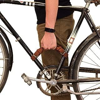 Hide & Drink, Rustic Leather Bicycle Frame Handle (Bike Handle) Handmade Includes 101 Year Warranty :: Swayze Suede