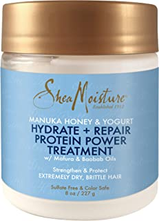 Shea Moisture Manuka Honey & Yogurt Hydrate + Repair Protein-Strong Treatment, 8 oz