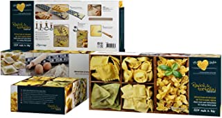 Eppicotispai 8-Piece Raviolli and Tortellini Starter Set, Cream