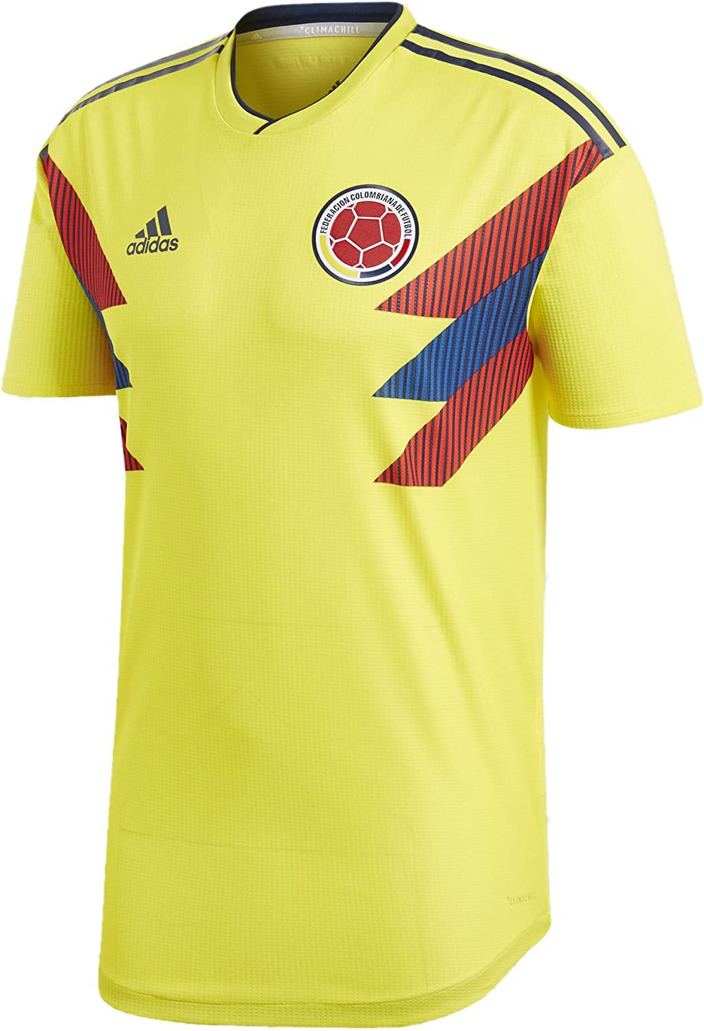 Amazon.com: adidas Men's Soccer Colombia Home Authentic Jersey ...