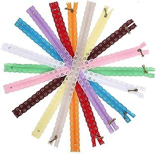 Voluxe Zíper de costura, material de nylon, resistente, durável, firme, estável e com zíper de renda, 10 peças para design...
